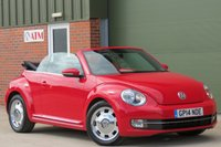 USED 2014 14 VOLKSWAGEN BEETLE 1.6 DESIGN TDI BLUEMOTION TECHNOLOGY 3d 104 BHP CONVERTIBLE, DAB RADIO, BLUETOOTH, FINANCE AVAILABLE