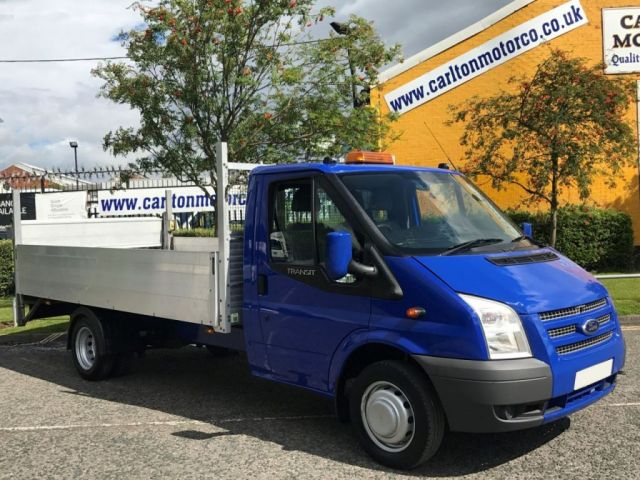 2013 13 FORD TRANSIT 2.2TDCi 125 350 LWB Dropside+Tail Lift DRW Low Mileage Delivery TBA