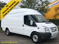USED 2013 13 FORD TRANSIT 125 350EF High Roof Jumbo panel van SRW Low Mileage Ex Lease Free UK Delivery