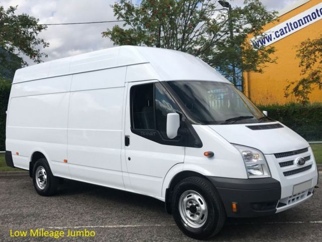 2013 13 FORD TRANSIT 125 350EF High Roof Jumbo panel van SRW Low Mileage Ex Lease Free UK Delivery