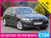 USED 2013 62 BMW 5 SERIES 2.0 520D SE TOURING 5d AUTO 181 BHP SAT NAV LEATHER ELEC TAILGATE