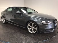 USED 2014 14 AUDI A4 2.0 TDI QUATTRO S LINE BLACK EDITION 4d 174 BHP FSH-1 OWNER-LEATHER-BLUETOOTH-A/C