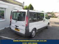 2013 RENAULT TRAFIC  MINIBUS  PASSAGER NINE SEAT SWB 2.0 SL27 DCI 115 BHP  SIX SPEED AIR CON  TWIN SIDE DOORS LIFT UP TAIL GATE    VERY CLEAN BUS  WITH SPARE KEY   WARRANTY GIVEN   £6850.00