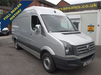 2012 VOLKSWAGEN CRAFTER 2.0 CR35 TDI H/R 136 BHP MEDIUM WHEEL BASE STAR SILVER METALLIC  ONE OWNER F.S.H  FITTED WITH CHUBB LOCKS  CHROME HANDLES MIRROR CAPS  £7500.00