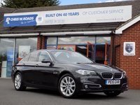 USED 2015 15 BMW 5 SERIES 2.0 520D LUXURY 4dr AUTO 188 BHP * Pro Nav * *ONLY 9.9% APR with FREE Servicing*