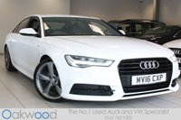 USED 2016 16 AUDI A6 SALOON 2.0 TDI 190 BHP ULTRA S LINE BLACK EDITION AUTO 4d BOSE SOUND SYSTEM+SAT-NAV+MEDIA CONNECTION+DAB RADIO+LED DAYTIME RUNNING LIGHTS+BLACK EDITION STYLING PACK+BLUETOOTH PHONE PREP