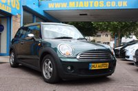 USED 2009 59 MINI CLUBMAN 1.6 COOPER 5dr 118 BHP BRITISH RACING GREEN with WOOD TRIM