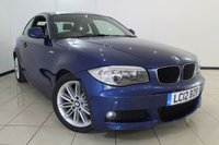 USED 2012 12 BMW 1 SERIES 2.0 118D M SPORT 2DR 141 BHP FULL SERVICE HISTORY + HALF LEATHER SEATS + AIR CONDITIONING + PARKING SENSOR + MULTI FUNCTION WHEEL + M SPORT PACKAGE + 17 INCH ALLOY WHEELS