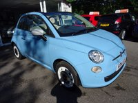 USED 2014 14 FIAT 500 1.2 CONVERTIBLE COLOUR THERAPY 3d 69 BHP One Owner from new, Fiat Service History + Just Serviced by ourselves, MOT until May 2018 (no advisories), Great on fuel! Only £30 Road Tax! Convertible