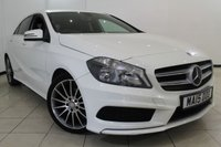 USED 2015 15 MERCEDES-BENZ A CLASS 1.5 A180 CDI BLUEEFFICIENCY AMG SPORT 5DR 109 BHP HALF LEATHER SEATS + AIR CONDITIONING + SAT NAVIGATION + BLUETOOTH + CRUISE CONTROL + MULTI FUNCTION WHEEL + 18 INCH ALLOY WHEELS