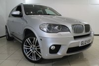 USED 2012 12 BMW X5 3.0 XDRIVE40D M SPORT 5DR AUTOMATIC 302 BHP FULL BMW SERVICE HISTORY + HEATED LEATHER SEATS + SAT NAVIGATION PROFESSIONAL + 7 SEATS + PANORAMIC ROOF + REVERSE CAMERA