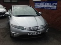 USED 2007 57 HONDA CIVIC 1.8 I-DTEC ES I-SHIFT 5d AUTO 139 BHP AUTOMATIC, ONLY 57K MILES