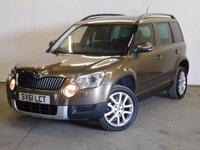 USED 2011 61 SKODA YETI 1.8 ELEGANCE TSI 4WD 5d 160 BHP PAN ROOF LEATHER PRIVACY PDC 4WD. PANORAMIC SUNROOF. STUNNING BRONZE MET WITH FULL BLACK LEATHER TRIM. HEATED SEATS. CRUISE CONTROL. 17 INCH ALLOYS. COLOUR CODED TRIMS. PRIVACY GLASS. PARKING SENSORS. BLUETOOTH PREP. CLIMATE CONTROL. TRIP COMPUTER. R/CD/MP3 PLAYER. 6 SPEED MANUAL. MFSW. MOT 01/18. FULL SERVICE HISTORY. PRISTINE CONDITION. FCA FINANCE APPROVED DEALER. TEL 01937 849492.