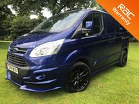 2014 FORD TRANSIT CUSTOM 2.2 270 TREND LR 125 BHP RS STYLING PACK ALLOYS HEATED SCREEN £13495.00