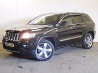 USED 2012 62 JEEP GRAND CHEROKEE 3.0 V6 CRD OVERLAND 5d AUTO 237 BHP SAT NAV PAN ROOF LEATHER FSH 4WD. HUGE SPEC OVERLAND MODEL. SATELLITE NAVIGATION. PANORAMIC SUNROOF. STUNNING GREEN BLACK MET WITH FULL BLACK LEATHER TRIM. ELECTRIC MEMORY HEATED SEATS. CRUISE CONTROL. 20 INCH ALLOYS. COLOUR CODED TRIMS. PRIVACY GLASS. PARKING SENSORS. ELECTRIC TAILGATE. REVERSING CAMERA. BLIND SPOT WARNING. BLUETOOTH PREP. AIR CON. R/CD PLAYER. MFSW. MOT 03/18. FULL DEALER SERVICE HISTORY. PRISTINE CONDITION. FCA FINANCE APPROVED DEALER. TEL 01937 849492