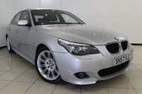 USED 2007 57 BMW 5 SERIES 2.0 520D M SPORT 4DR 175 BHP BMW SERVICE HISTORY + LEATHER SEATS + CLIMATE CONTROL + PARKING SENSOR + CRUISE CONTROL + MULTI FUNCTION WHEEL + 18 INCH ALLOY WHEELS
