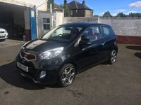USED 2011 06 KIA PICANTO 1.2 EQUINOX 3d 84 BHP Full RED Leather