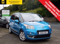 USED 2010 10 CITROEN C3 PICASSO 1.6 PICASSO EXCLUSIVE HDI 5d 90 BHP LOVELY BRIGHT LOOKING CAR IN METALLIC BLUE, WITH REAR PARKING SENSORS, AUTO AIR CON AND CRUISE CONTROL! LONG MOT AND FULL SERVICE HISTORY!