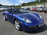 USED 2008 08 PORSCHE BOXSTER 3.4 24V S 2d 295 BHP Cobalt Blue metallic, PCM Sat Nav & BOSE Hi-Fi, 19 inch alloys plus more.