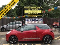USED 2014 14 CITROEN DS3 1.6 E-HDI DSTYLE PLUS 3d 90 BHP 1 OWNER, LOW MILEAGE, SERVICE HISTORY, STUNNING METALLIC RED PAINT WORK, METALLIC GREY ROOF/MIRROR CAPS, CHARCOAL GREY SPORTS CLOTH INTERIOR, CRUISE, PARKING SENSORS, 17 INCH ALLOYS