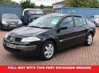USED 2006 04 RENAULT MEGANE 1.6 Dynamique 4 Door Sports Saloon  FULL MOT with this Part Exchange Vehicle