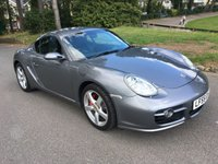 USED 2006 55 PORSCHE CAYMAN 3.4 24V S 2d 295 BHP TIPTRONIC AUTOMATIC GREAT SPEC AUTOMATIC 3.4S IN GREY MET WITH FULL BLACK LEATHER SAT NAV AND PARK DISTANCE