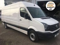 USED 2014 14 VOLKSWAGEN CRAFTER LWB HIGH ROOF 2.0 CR35 TDI 109BHP, 4.2 METRE LOAD SPACE