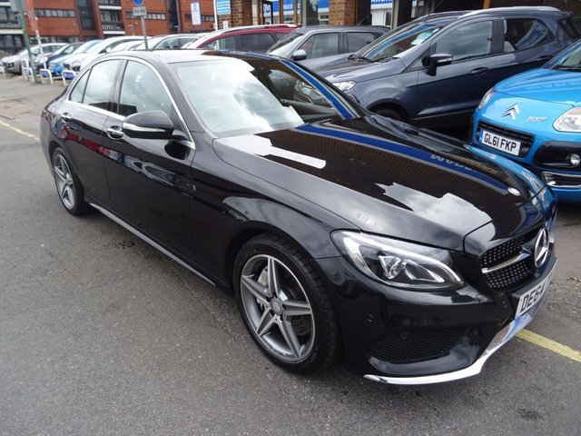 2014 64 MERCEDES-BENZ C CLASS 2.1 C250 BLUETEC AMG LINE PREMIUM PLUS 4d AUTO 204 BHP  OBSIDIAN BLACK/BLACK LEATHER ARTICO
