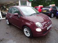 USED 2016 16 FIAT 500 1.2 POP STAR 3d 69 BHP New Shape, Very Low Mileage, One Lady Owner from new, Full Service History (Just Serviced by ourselves), MOT until March 2019, Balance of Fiat Warranty until 2019, Great on fuel! Only £20 Road Tax!