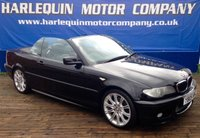 USED 2005 05 BMW 3 SERIES 3.0 330CI SPORT 2d AUTO 228 BHP 2005 METALLIC BLACK BMW 330 Ci SPORT CONVERTIBLE AUTOMATIC FULL BLACK SPORTS LEATHER AIR CON ALLOYS ELECTRIC CONVERTIBLE ROOF REAR PARK DISTANCE