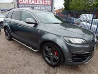 "USED 2015 64 AUDI Q7 3.0 TDI QUATTRO S LINE SPORT EDITION 5d AUTO 242 BHP LEATHER, SAT NAV, 21"" ALLOYS, STUNNING EXAMPLE"