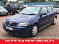 2004 VAUXHALL ASTRA 1.6 CLUB 5d AUTO 85 BHP £995.00