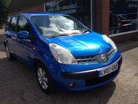 2007 NISSAN NOTE 1.6 SE 5 DOOR  AUTOMATIC 109 BHP WITH LONG MOT IN MET BLUE £1490.00
