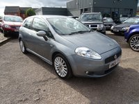 USED 2008 08 FIAT GRANDE PUNTO 1.4 SPORTING 16V 3d 94 BHP 2 PREVIOUS KEEPERS 8 SERVICE STAMPS 8235mls, 16713mls, 22499mls, 30062mls, 38545mls, 43647mls & 41607mls 12 MONTHS MOT WITH SALE With contrasting Charcoal sports trim, 6 speed gearbox, 3 spoke sports multi-function steering wheel, air conditioning, locking wheel nuts, Electric door mirrors, electric windows, over mats, cup holders, rear head rests, white facia dials, manual pack, rear folding seats, multi-spoke sports alloys, front and rear fog lights