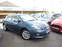 USED 2015 15 VAUXHALL ASTRA 1.4 EXCITE 5d 98 BHP NEED FINANCE? WE CAN HELP. WE STRIVE FOR 94% ACCEPTANCE