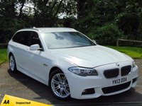 USED 2013 13 BMW 5 SERIES 2.0 520D M SPORT TOURING 5d AUTO * 128 POINT AA INSPECTED *