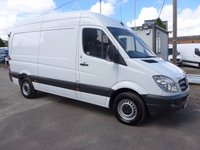2012 MERCEDES-BENZ SPRINTER 313 CDI MWB HI ROOF, 130 BHP [EURO 5], AIR CONDITIONING, 1 COMPANY OWNER  £8295.00