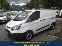 2014 FORD TRANSIT CUSTOM  NEW SHAPE TRANSIT TURBO DIESEL SIX SPEED  ONE COMPANY OWNER  F.S.H  SOLD WITH WARRANTY  £7800.00