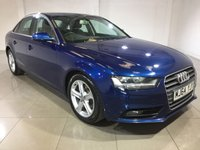 USED 2014 64 AUDI A4 2.0 TDI SE 4d 134 BHP One Owner From New/Bluetooth
