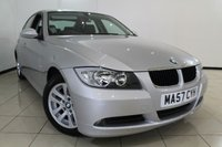 USED 2007 57 BMW 3 SERIES 2.0 320D SE 4DR AUTOMATIC 161 BHP BMW SERVICE HISTORY + LEATHER SEATS + AIR CONDITIONING + PARKING SENSOR + CRUISE CONTROL + MULTI FUNCTION WHEEL + 16 INCH ALLOY WHEELS