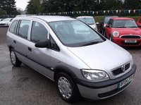 USED 2004 04 VAUXHALL ZAFIRA 1.8 LIFE 16V 5d 123 BHP SPACIOUS 7 SEATER FAMILY CAR WITH  SERVICE HISTORY, GREAT SPEC, DRIVES SUPERBLY