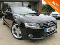 """USED 2010 60 AUDI A5 2.0 TFSI S LINE 3d AUTO 178 BHP PANORAMIC ROOF, FULL LEATHER, 19"""" ALLOYS, CLIMATE CONTROL, PARKING SENSORS, FULL MAIN DEALER SERVICE HISTORY, SPARE KEY"""