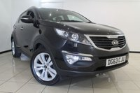 USED 2013 63 KIA SPORTAGE 1.7 CRDI 3 5DR 114 BHP SERVICE HISTORY + HEATED LEATHER SEATS + DOUBLE SUNROOF + BLUETOOTH + CRUISE CONTROL + MULTI FUNCTION WHEEL + 18 INCH ALLOY WHEELS