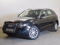 USED 2010 60 AUDI Q5 2.0 TDI QUATTRO SE DPF 5d 168 BHP SAT NAV LEATHER PRIVACY PDC FSH NO FINANCE REPAYMENTS FOR 2 MONTHS STC. 4WD. SATELLITE NAVIGATION. START STOP SYSTEM. STUNNING BLACK MET WITH FULL BLACK LEATHER TRIM. CRUISE CONTROL. 18 INCH ALLOYS. COLOUR CODED TRIMS. PARKING SENSORS. ELECTRIC TAILGATE. BLUETOOTH PREP. AIR CON. R/CD PLAYER. 6 SPEED MANUAL. MFSW. MOT 07/18. ONE PREV OWNER. FULL DEALER SERVICE HISTORY. FCA FINANCE APPROVED DEALER. TEL 01937 849492