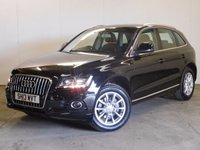USED 2013 13 AUDI Q5 2.0 TDI QUATTRO SE 5d 141 BHP 4WD LEATHER ONE OWNER FSH 4WD. STUNNING BLACK MET WITH FULL BLACK LEATHER TRIM. HEATED SEATS. CRUISE CONTROL. 18 INCH ALLOYS. COLOUR CODED TRIMS. PARKING SENSORS. AIR CON. R/CD PLAYER. 6 SPEED MANUAL. MFSW. MOT 07/18. ONE OWNER FROM NEW. FULL AUDI SERVICE HISTORY. FCA FINANCE APPROVED DEALER. TEL 01937 849492