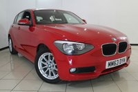 USED 2014 63 BMW 1 SERIES 1.6 116I SE 5DR 135 BHP AIR CONDITIONING + PARKING SENSOR + BLUETOOTH + CRUISE CONTROL + 16 INCH ALLOY WHEELS
