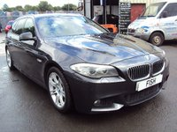USED 2013 13 BMW 5 SERIES 2.0 520D M SPORT TOURING 5d AUTO 181BHP SATNAV+FULL LEATHER SEATS+CDC+