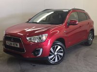 USED 2014 14 MITSUBISHI ASX 2.3 DI-D 4 5d AUTO 147 BHP SAT NAV PAN ROOF LEATHER ONE OWNER FSH 4WD. SATELLITE NAVIGATION. PANORAMIC SUNROOF. STUNNING RED MET WITH FULL BLACK LEATHER TRIM. ELECTRIC HEATED SEATS. CRUISE CONTROL. 17 INCH ALLOYS. COLOUR CODED TRIMS. PRIVACY GLASS. REVERSING CAMERA. BLUETOOTH PREP. CLIMATE CONTROL. PADDLESHIFT AUTO. R/CD PLAYER. MFSW. MOT 07/18. ONE OWNER FROM NEW. FULL SERVICE HISTORY. PRISTINE CONDITION. FCA FINANCE APPROVED DEALER. TEL 01937 849492