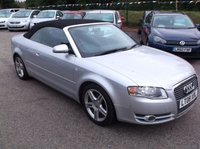 USED 2008 S AUDI A4 2.0 TDI CABRIOLET SPORT 2d AUTO 141 BHP DIESEL / AUTOMATIC, GREAT SPEC, EXCELLENT SERVICE HISTORY, DRIVES SUPERBLY, GREAT M.P.G !!
