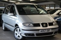 USED 2007 57 SEAT ALHAMBRA 2.0 REFERENCE TDI 5d 139 BHP RELIABLE AND PRACTICAL 7 SEAT FAMILY CAR